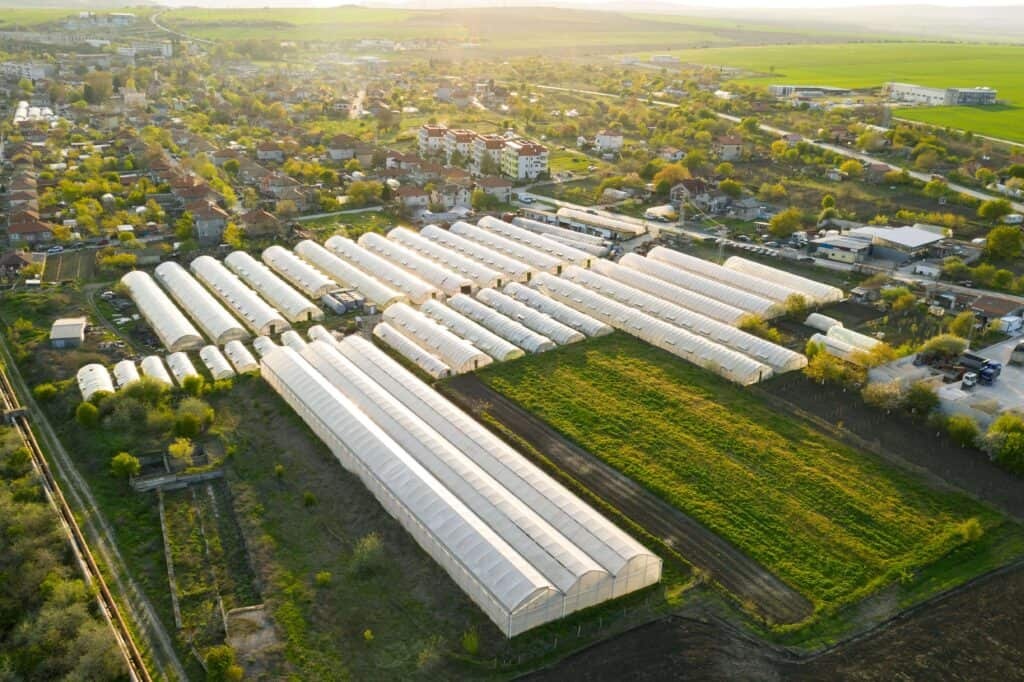 CO2 to greenhouses from the air locally